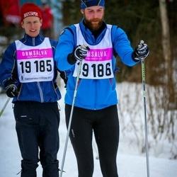 Skiing 90 km - Christian Ludvigsson (19185), Alexander Benson (19186)