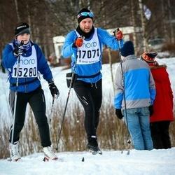 Skiing 90 km - Clara Sporrong (15280), David Sjöblom (17071)