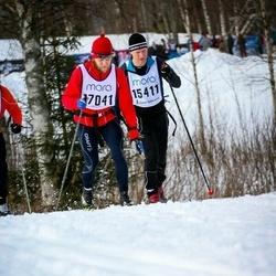Skiing 90 km - Anders Frejd (15411), Alexander Rupush (17041)