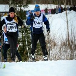 Skiing 90 km - Ulrika Käck (16858), Jan-Peter Eriksson (17442)