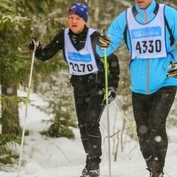 Skiing 90 km - Arjalingonstigen 73 Johansson (2270), Christer Åkerblom (4330)