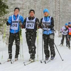 Suusatamine 90 km - Mats Åstrand (9047), Alexander Åstrand (9049), Marie Åstrand (9050)