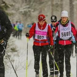 Skiing 90 km - Sara Franklin (802), Carolin Karlsson (5685)