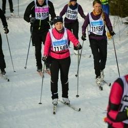 Skiing 90 km - Cecilia Blomberg (11558), Sofie Eliasson (11566)