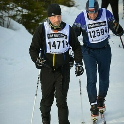 Skiing 90 km - Christer Nylander (12594), Jonas Möller (14714)