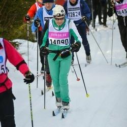 Skiing 90 km - Catherine Cotterlaz (14090)