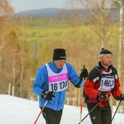 "Skiing 90 km - Jan-Olof ""j-O"" Hansson (14807), Åke Sigfridsson (16125)"