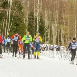 Skiing 90 km - Johannes Eriksson (12111), Anders Tillvén (12307), Joakim Lindhe (14684), Mattias Nilsson (19028)
