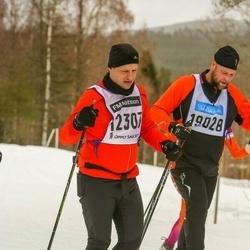 Skiing 90 km - Anders Tillvén (12307), Mattias Nilsson (19028)