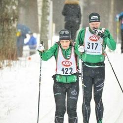 Skiing 45 km - Jan Hasselgren (317), Katharina Hasselgren (422)