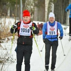 Skiing 45 km - Hans Kronborg (531), Stefan Larsson (1058)