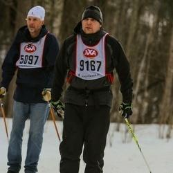 Skiing 45 km - Lennart Ström (5097), Tobias Fasth (9167)