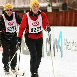 Skiing 45 km - Cecilia Hall (8221), Bo Persson (8222)