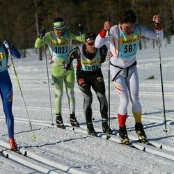 Skiing 90 km - Henry Churchill (3872), Olof Malm (10272), Hans Rapp (13082)
