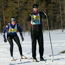 Skiing 90 km - Linda Frisk (14202), Henrik Blomkvist (14732)