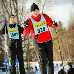 Skiing 90 km - Kristina Bolander (8306), Björn Fredriksson (13626)
