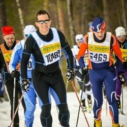 Skiing 90 km - Birger Fält (6469), Anders Lindgren (10489)