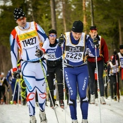 Skiing 90 km - Albin Andersson (6229), Lars Andersson (11427)