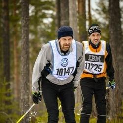 Skiing 90 km - Axel Lundvall (10147), Fredrik Reinholdsson (11225)