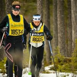 Skiing 90 km - Frida Cronqvist (18534), Simona Martinelli (18665)