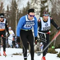 Skiing 90 km - Andreas Ericsson (3308), Fredrik Borg (3903)