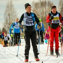 Skiing 90 km - Christian Esters (10588), Jean Francois Lafore (10676)
