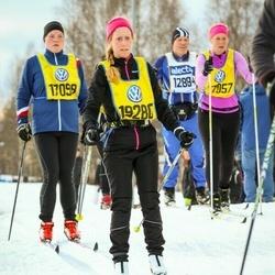 Skiing 90 km - Sandra Rundqvist (17098), Cecilia Sundbring (19280)