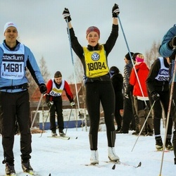Skiing 90 km - Daniel Eklund (14681), Johanna Åkesson (18084)