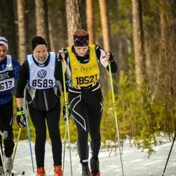 Skiing 90 km - Johan Ovefelt (8589), Edit Wilson (18521)
