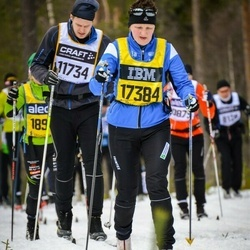 Skiing 90 km - Pether Budin (11734), Barbro Lindberg (17384)