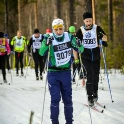 Skiing 90 km - Mikael Nilsson (9078), David Eriksson (13083)