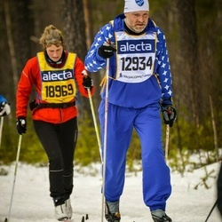 Skiing 90 km - Olof Weister (12934), Else Thiesson (18969)