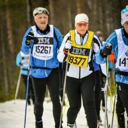 Skiing 90 km - Hans Chr Holm (15261), Elin Malmqvist (18377)