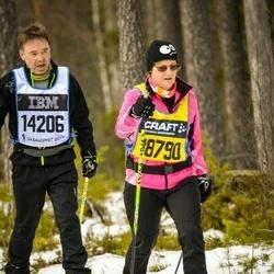 Skiing 90 km - Kenneth Skrifvars (14206), Britt-Marie Enlund (18790)