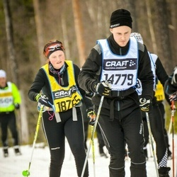 Skiing 90 km - Fredrik Karlsson (14779), Ellenor Persson (18765)