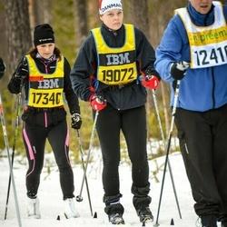 Skiing 90 km - Lillemor Wallenius (17340), Maria Jörgensen (19072)