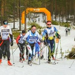Skiing 90 km - Jörgen Edvinsson (4072), Justin Casimir (5949), Knut Sveinung Kleppa (6768)