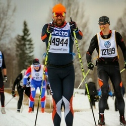 Skiing 90 km - Christer Lybeck (12199), Ago Teder (14944)