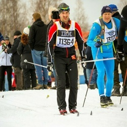 Skiing 90 km - Jacob Nyström (11364), Hugo Staveli (13173)