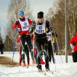 Skiing 90 km - Daniel Arvidsson (5991), Steffen Reinhardt (14174)