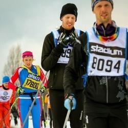 Skiing 90 km - Oscar Paulsson (14894), Andrea Skott Dahlgren (17800)
