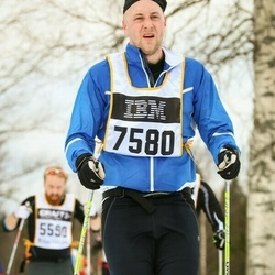 Skiing 90 km - Christoffer Hallenius (7580)