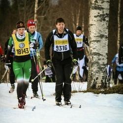 Skiing 90 km - Henrik Saarela (9316), Signe Gamborg Nielsen (18143)