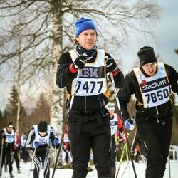 Skiing 90 km - Johan Robertson (7477), Fredrik Olsson (7850)
