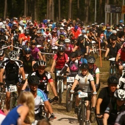 Cycling 45 km - Hanna Sande (5067), Roine Thor (5082), Åsa Tiderman (5145)