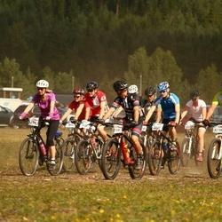Cycling 45 km - Daniel Eriksson (5637), Marita Bäckman Jakobsson (5666), Tom Blomqvist (5738)