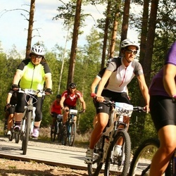 Cycling 45 km - Susanna Sipola (5829), Rebecka Gustafsson (5883)