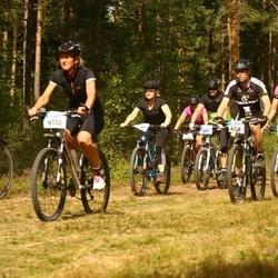Cycling 45 km - Sofia Wänstedt (6103), Magnus Westman (6106), Jerk Bjerneld (6121)