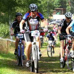 Cycling 45 km - Elisabet Lindfors (4546), Mona Orvnäs (4741)
