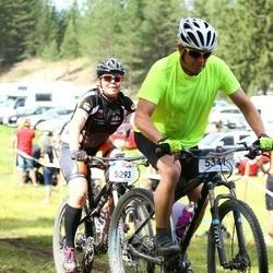 Cycling 45 km - Annica Thullnérs (5293), Henrik Svensson (5341)